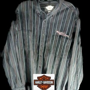 Harley-davidson stripped button up